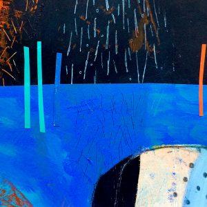 Blue Sea, Abstract, Harriet Brigdale, Artist
