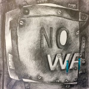 No WIFI, Drawing, Harriet Brigdale, Artist