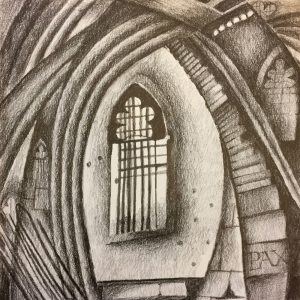 Church Window, Drawing, Harriet Brigdale, Artist