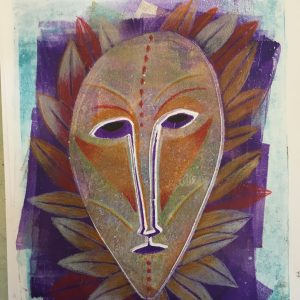 Leaf face, masks, Harriet Brigdale, Artist
