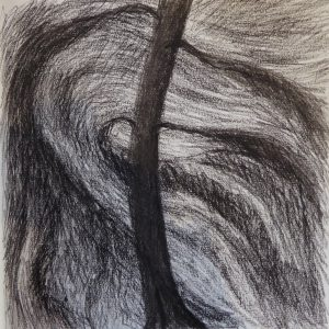 Windy Night, Drawing, Harriet Brigdale, Artist