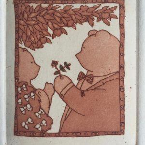 The Flower, Harriet Brigdale, Etching