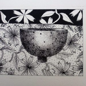 Small bowl, litho, Harriet Brigdale, Artist