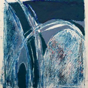 Doors, mono print, Harriet Brigdale SGFA, artist