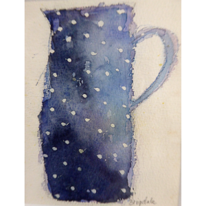 Blue jug, watercolour, Harriet Brigdale