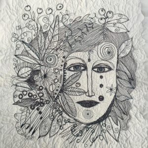 Sewn face, Drawing, Harriet Brigdale, Artist