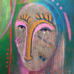 Mask with hair, Harriet Brigdale, Artist