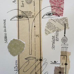 Pattern face, Harriet Brigdale, Artist