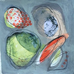 Linked shapes, Abstract, Harriet Brigdale, Artist