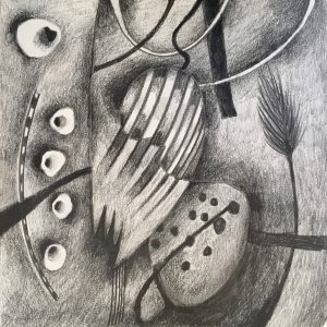 5 lefthand shapes, Drawing, Harriet Brigdale, Artist