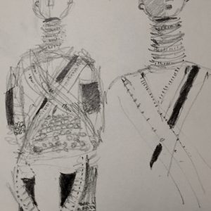 African doll, Drawing, Harriet Brigdale, Artist