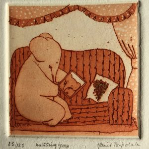 Missing you, etching, Harriet Brigdale