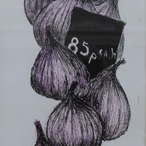 Borough market figs, litho, Harriet Brigdale, Artist