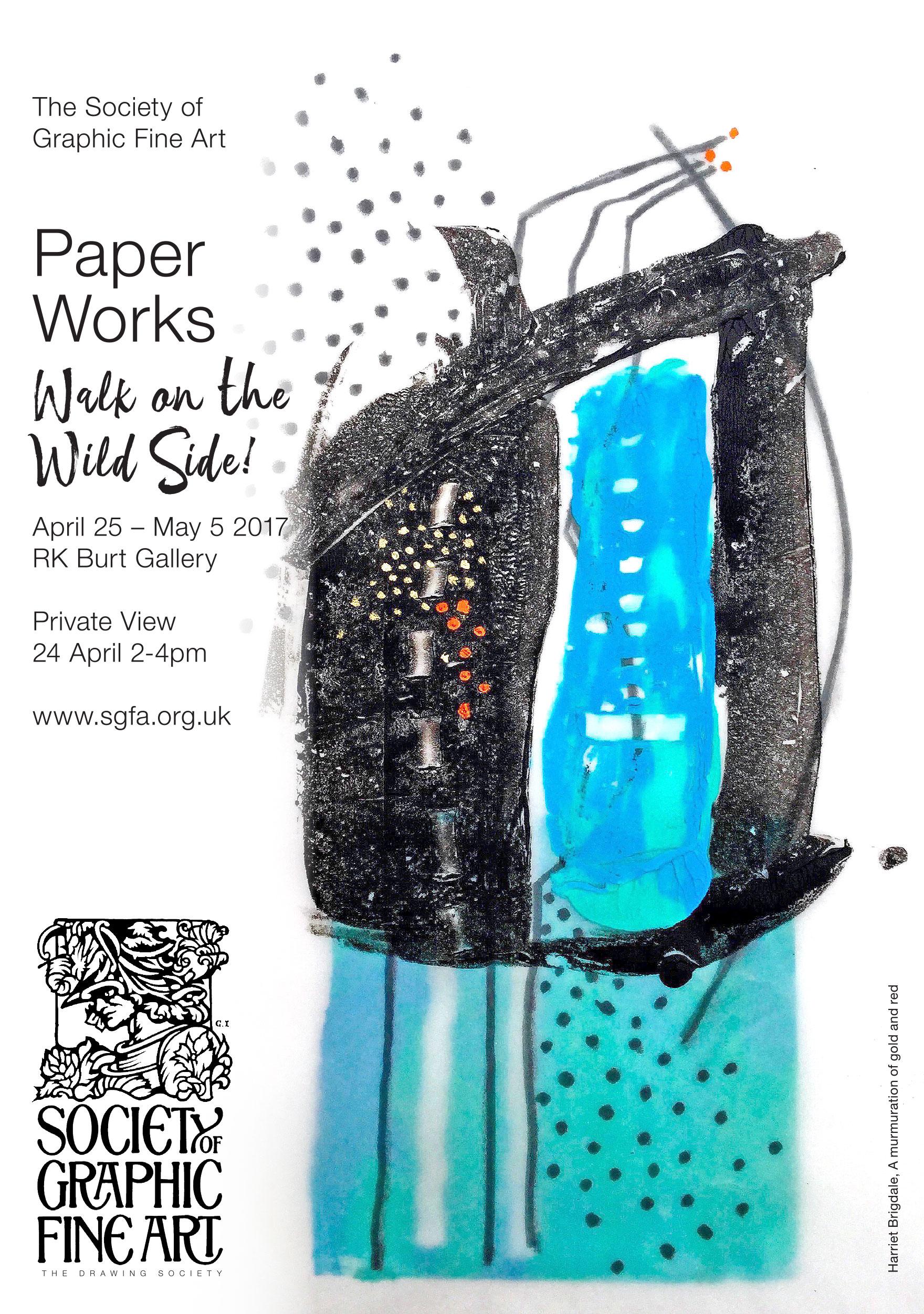 RK Burt Gallery, SGFA Exhibition, Harriet Brigdale invite