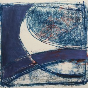 Road to knowhere, oil and mono-print., Harriet Brigdale SGFA, artist
