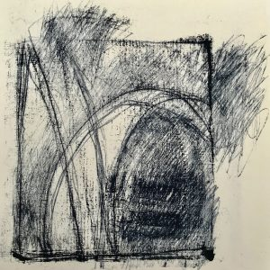 busy lines, mono print, Harriet Brigdale SGFA, artist